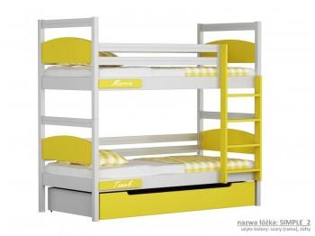 Łóżko piętrowe małe Easy - Simple
