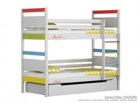 Łóżko piętrowe małe Easy - Colours
