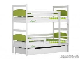 Łóżko piętrowe małe Easy - Nature