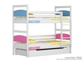 Łóżko piętrowe małe Easy - Twins