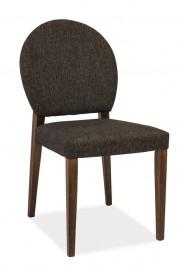 Krzesło z tapicerowanym siedziskiem i oparciem Aldo