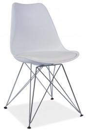 Krzesło z tworzywa z poduszką Tim