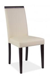 Krzesło ze sztucznej skóry na drewnianym stelażu CD-77