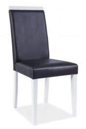 Krzesło z ekoskóry z drewnianymi nogami CD-77
