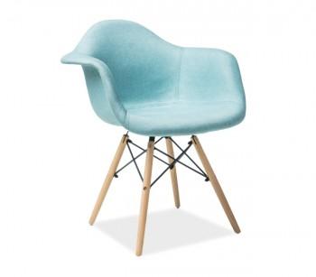 Tapicerowane krzesło na drewnianych nogach Bono