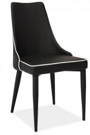 Krzesło Soren w całości tapicerowane ekoskórą