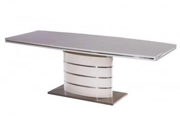 Rozkładany na jednej nodze stół Fano biały