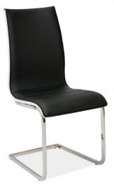 Krzesło z ekoskóry na płozach H133