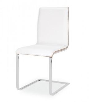 Krzesło ze sklejki i ekoskóry na płozach H690