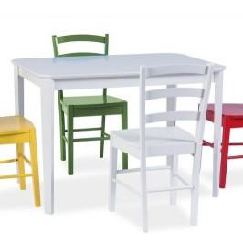 Biały nierozkładany stół Timor