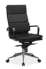 Czarny obrotowy fotel z ekoskóry Q-153