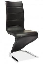 Krzesło z ekoskóry o oryginalnym kształcie H134