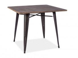 Drewniany stół z metalowym stelażem Almir 90x90