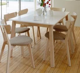 Biały rozkładany stół Narvik