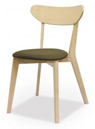 Krzesło drewniane z szarym siedziskiem Narvik