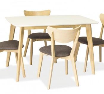 Stół ze stelażem w kolorze dąb bielony Combo