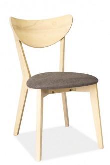 Drewniane krzesło z tapicerowanym siedziskiem CD-37