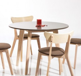 Okrągły stół z blatem w kolorze szarym Helsinki