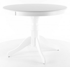 Biały okrągły stół Windsor