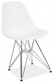 Krzesło z metalowym stelażem Lino