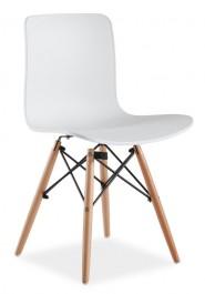 Krzesło z tworzywa na drewnianych nogach Clio