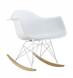 Białe krzesło bujane Mondi II