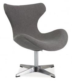 Tapicerowany tkaniną fotel na stelażu aluminium Felix
