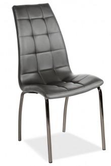 Krzesło z pikowaną tapicerką ze sztucznej skóry H104