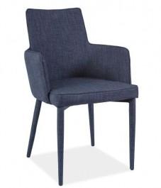 Tapicerowane krzesło z podłokietnikami Semir