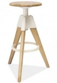 Drewniany hoker z elementami plastikowymi Bodo