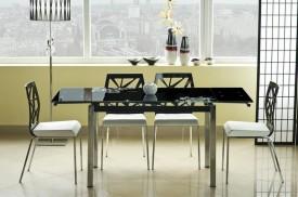 Stół z blatem ze szkłą hartowanego GD-017