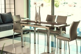 Stół z blatem ze szkła hartowanego GD-018