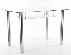 Stół Hektor ze szklanym blatem i półką