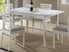 Rozkładany stół w kolorze ecru Martina