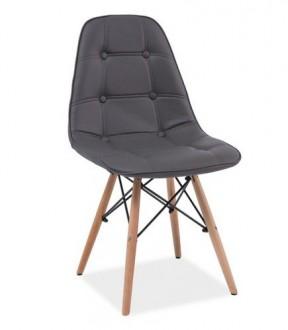 Krzesło tapicerowane na drewnianych nogach Axel