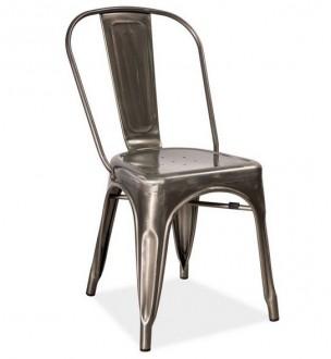 Krzesło ze stali szczotkowanej Loft