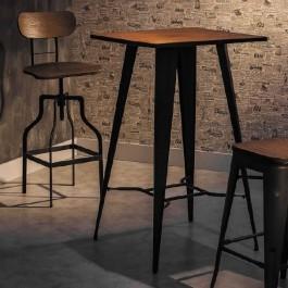Stół barowy z drewnianym blatem Retto
