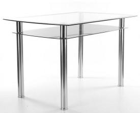 Szklany stół z półką Rodi