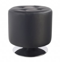 Czarna pufa z ekoskóry C-901