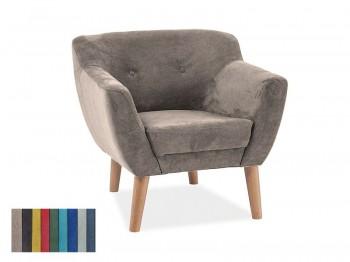 Fotel z bukowymi nogami Bergen 1