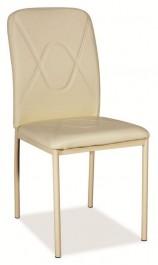 Krzesło z ekoskóry H623 / metal