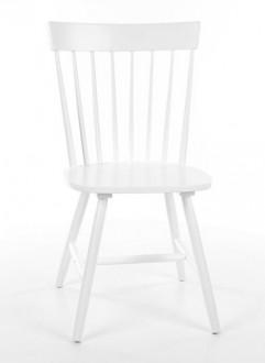 Białe drewniane krzesło Alero