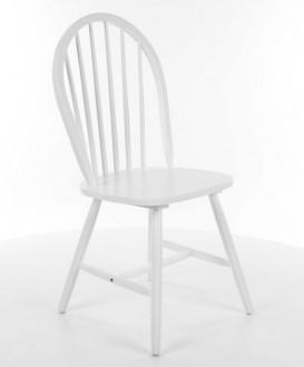 Białe drewniane krzesło Fiero