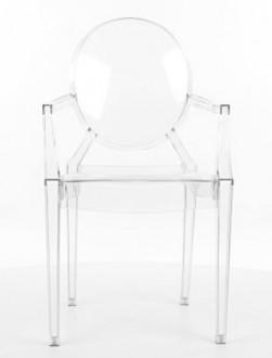 Stylizowane krzesło z poliwęglanu Luis