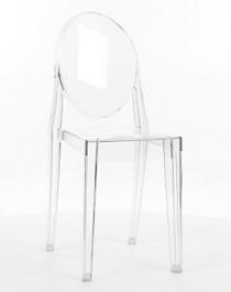 Transparentne krzesło z poliwęglanu Martin
