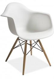 Krzesło z podłokietnikami na drewnianych nogach Mondi