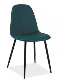 Krzesło Teo A z ekoskóry na metalowych nogach