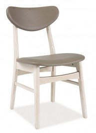Krzesło Spark z tapicerowanym ekoskórą siedzikiem i oparciem