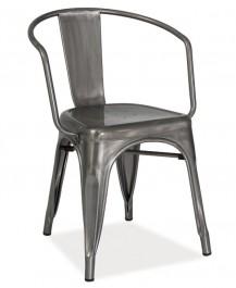 Krzesło ze stali szczotkowanej Alva