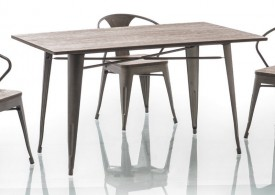 Drewniany stół z metalowym stelażem Almir 140